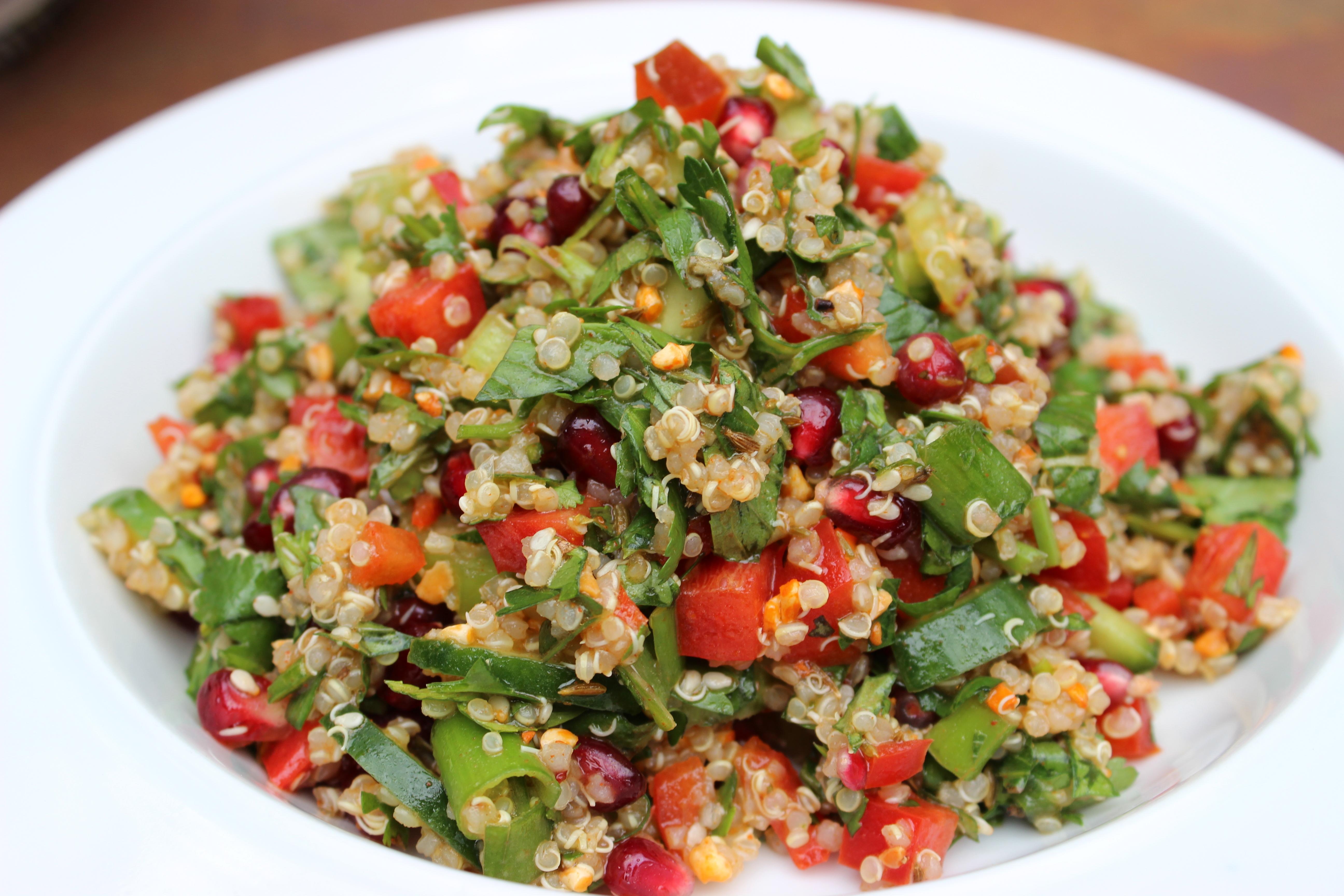 Middle Eastern Pomegranate Quinoa Salad JOIE DE VIVRE